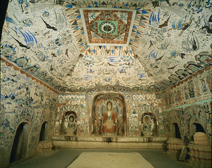 "Cave 285, interior view from ""Caves of Dunhuang"" at the Getty Center"