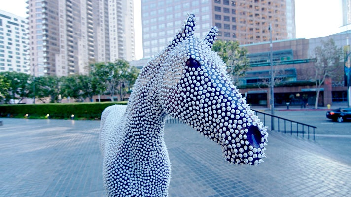 """""""Prickles"""" by Andre Miripolsky at Bank of America Plaza"""