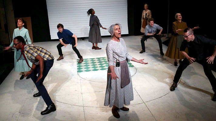 """Frances McDormand in The Wooster Group production, """"Early Shaker Spirituals"""" at REDCAT"""