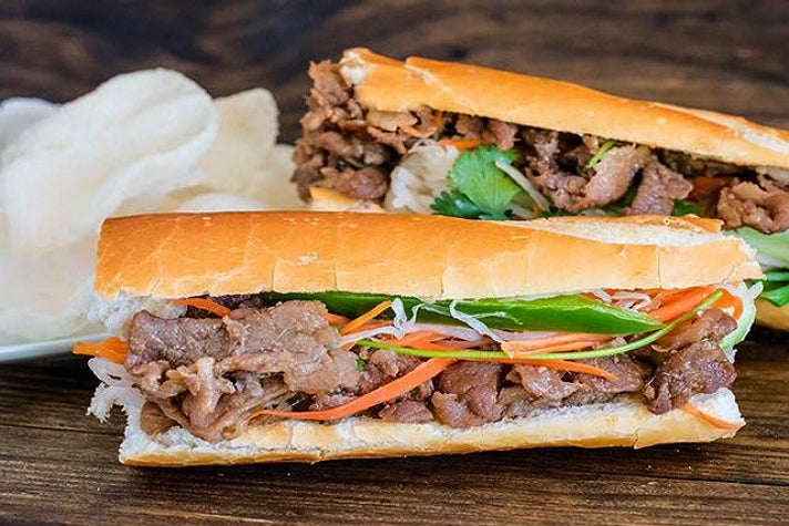 Lemongrass beef banh mi at Xoia Eats