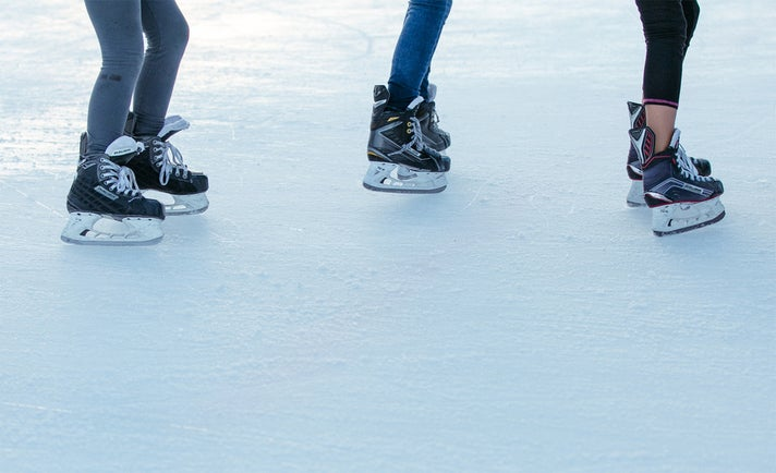 Outdoor ice skating at Westfield Santa Anita