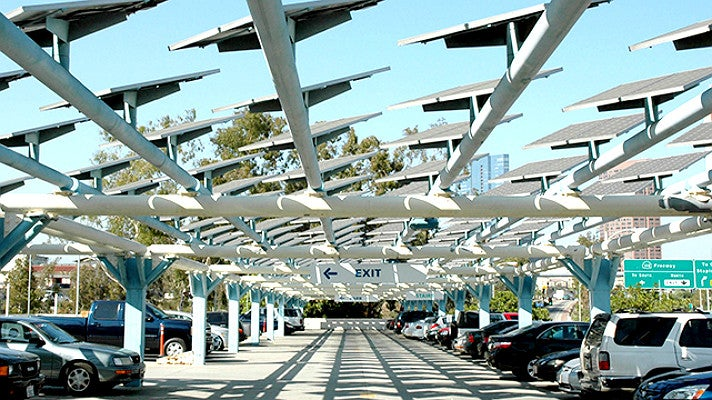 Solar panels at the Los Angeles Convention Center