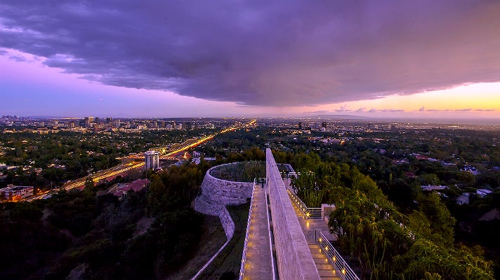 Sunset view at the Getty Center