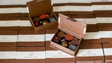 Wolfgang Puck chocolates at Spago Beverly Hills