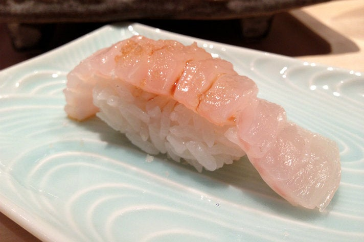 Engawa (halibut fin) at Nozawa Bar