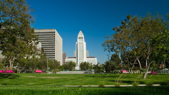 City Hall viewed from Grand Park
