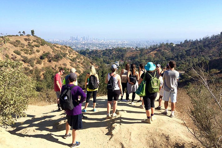 Bikes and Hikes LA Hollywood Hills hike