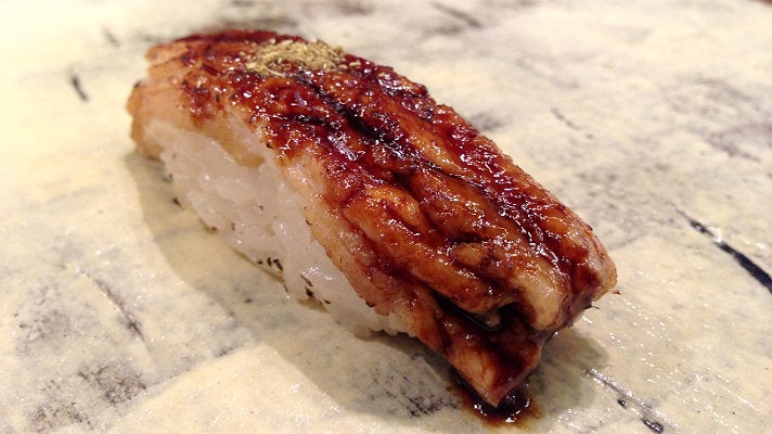 Anago (saltwater eel) at Q Sushi